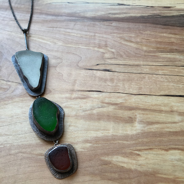 Megan Stelzer sea glass necklace
