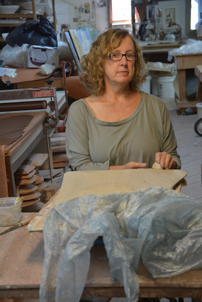 Donna McGee in her studio