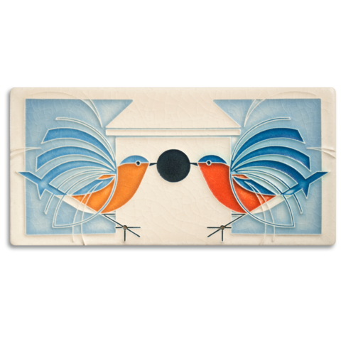 Motawi Homecoming Charley Harper Tile