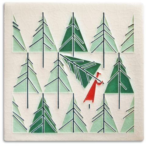 Motawi Perfect Tree Charley Harper Tile