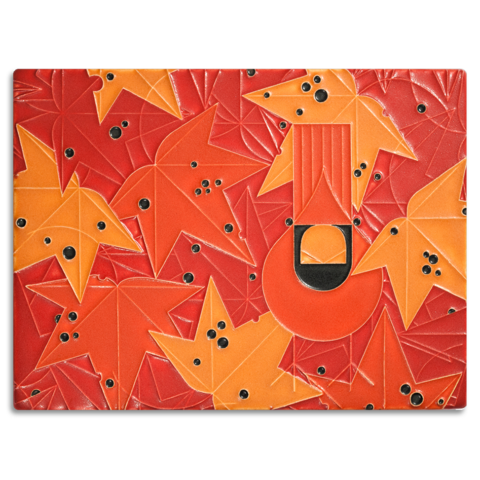 Motawi Under the Sweetgum Charley Harper Tile