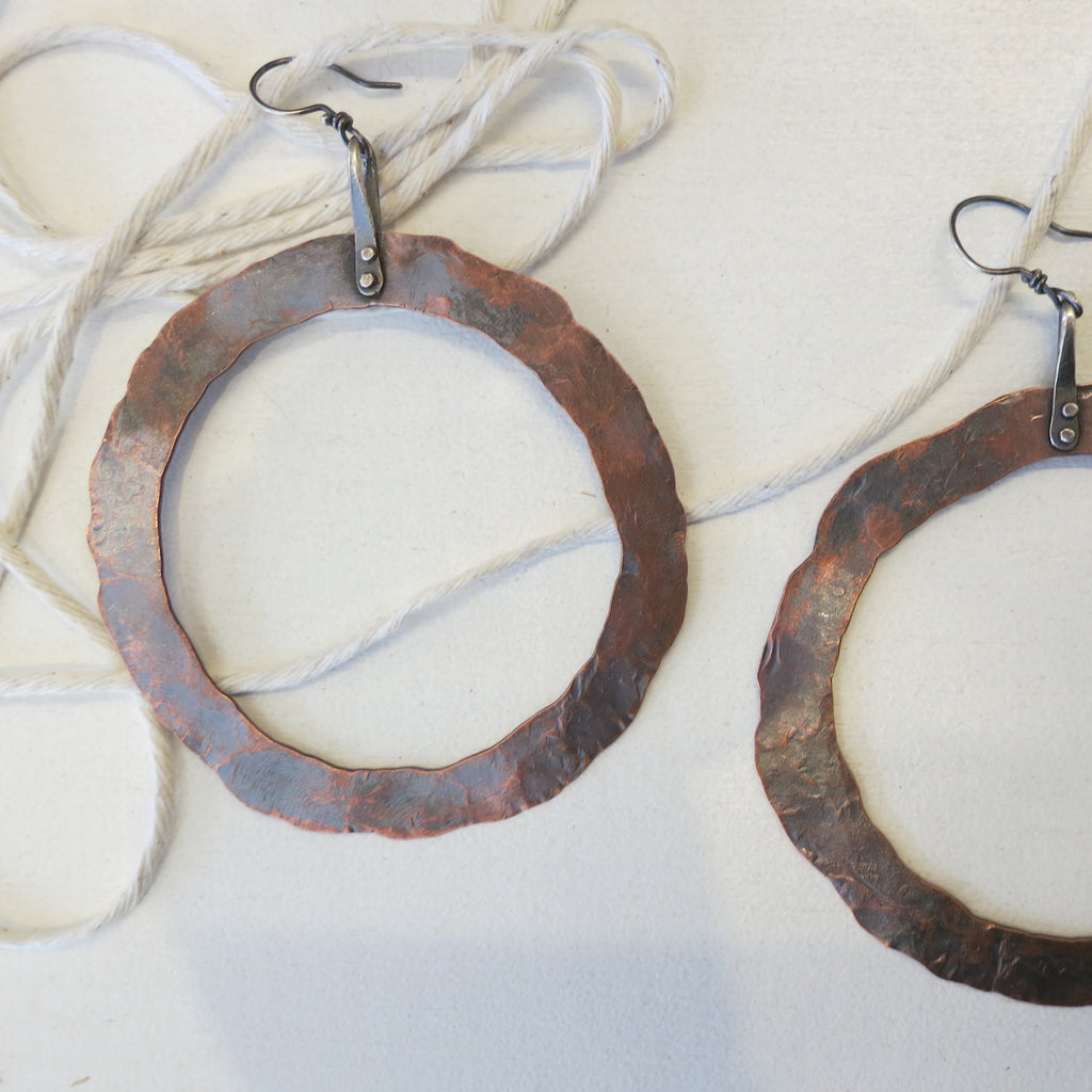 Megan Stelzer Bold Circle Earrings Copper