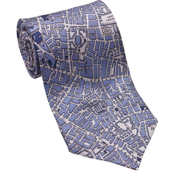 Josh Back 100% silk necktie | London City Map