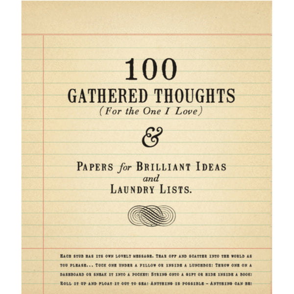 100 Gathered Thoughts (For the One I Love) by Sugarboo Designs