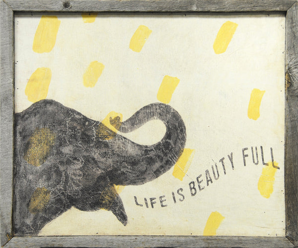 Sugarboo Designs Life is Beauty Full Elephant Art Print