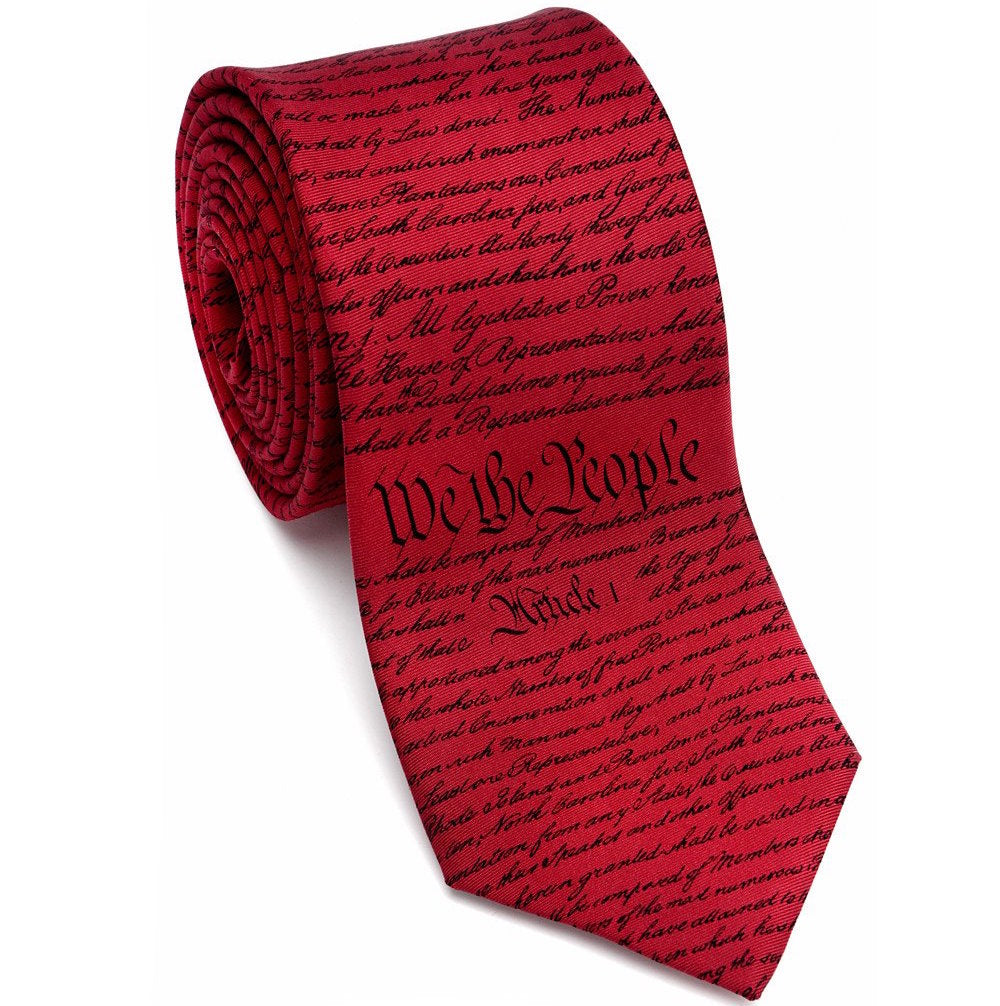 Josh Back 100% silk necktie | US Constitution