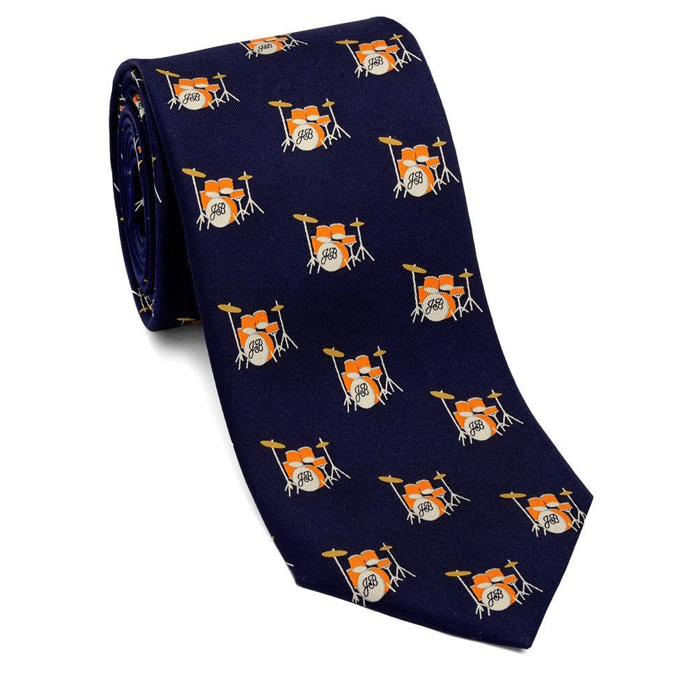 Josh Back 100% silk necktie | Drums