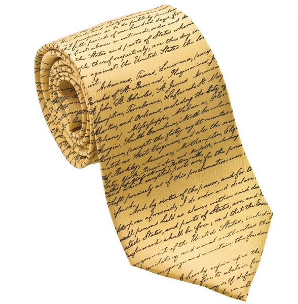 Josh Back 100% silk necktie | Emancipation Proclamation