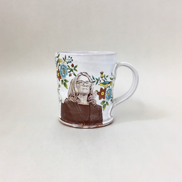 Christine Blasey Ford Mug with Flowers by Justin Rothshank