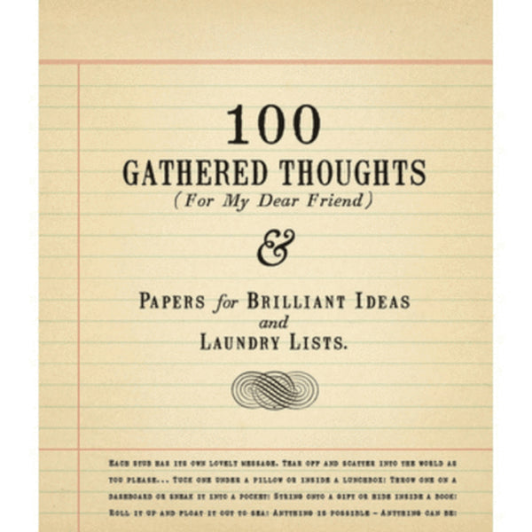 100 Gathered Thoughts (For My Dear Friend) by Sugarboo Designs