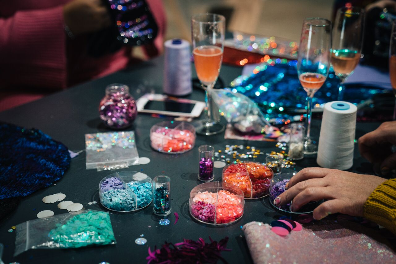 Design a Sequin Clutch Bag Workshop January 2019!