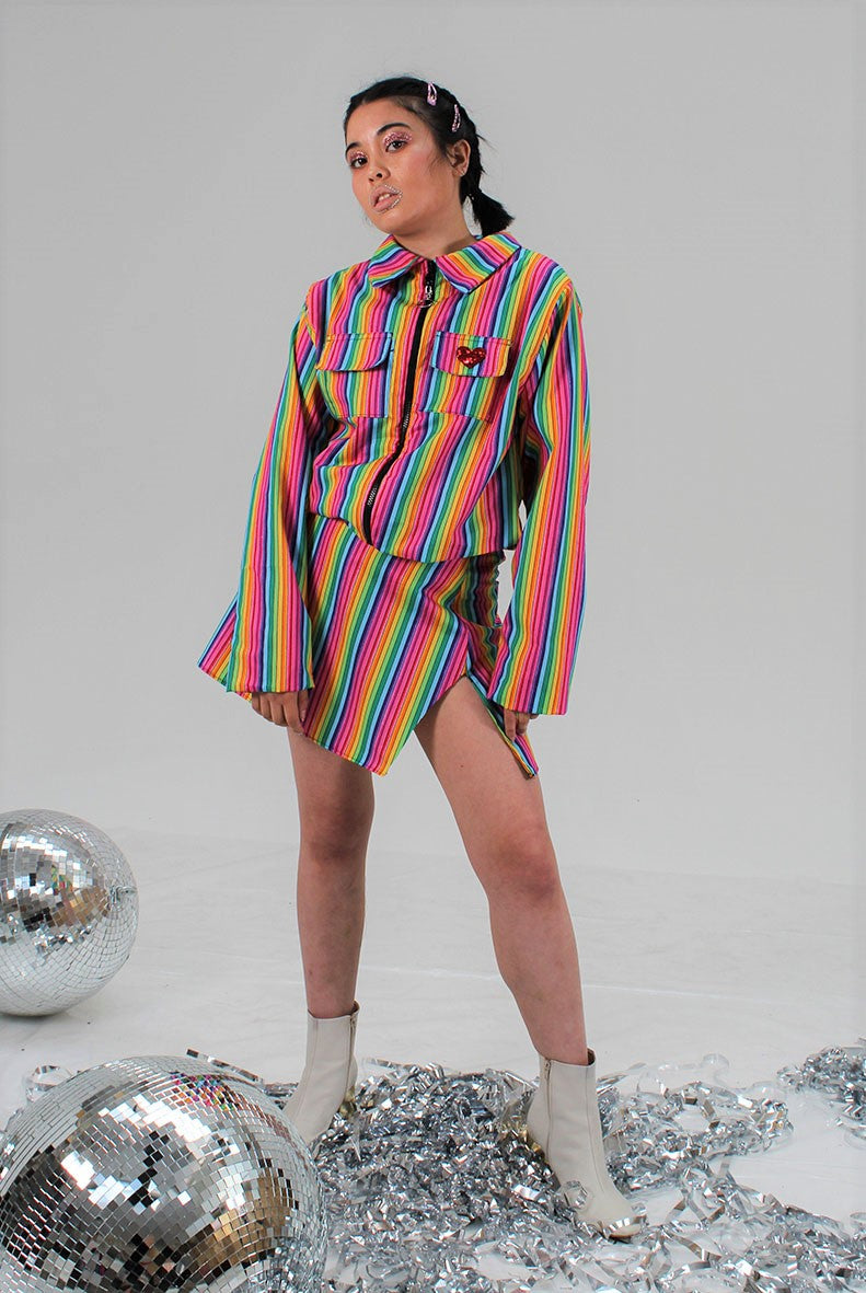 Rainbow Skittle A-line Skirt