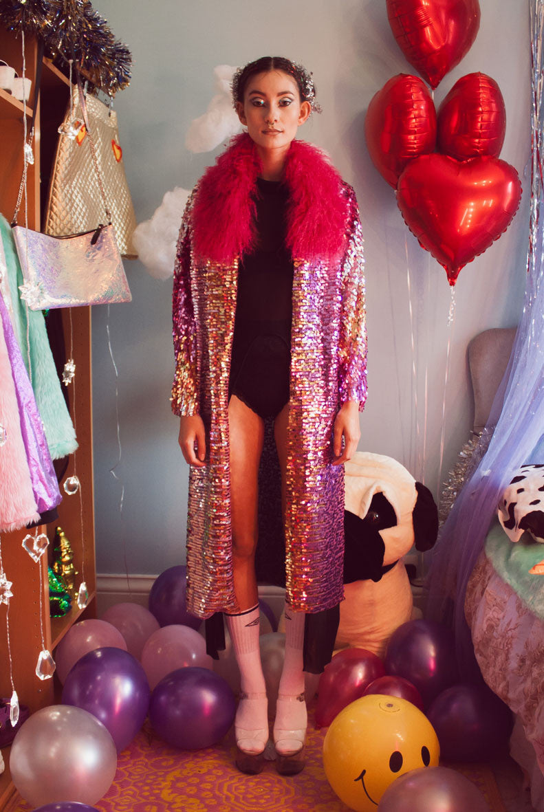 Believe Sequin Coat