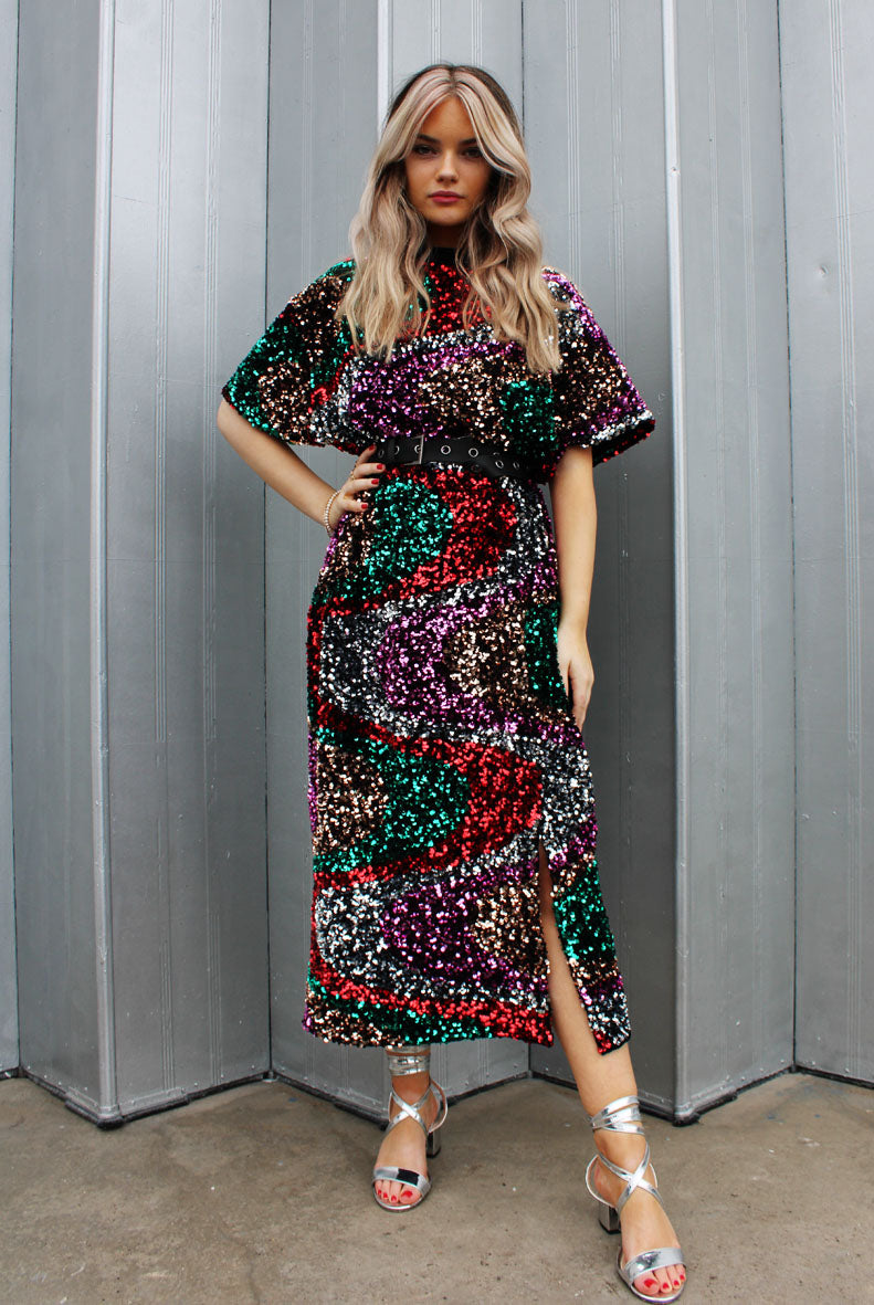 Carnival Sequin Midi Dress