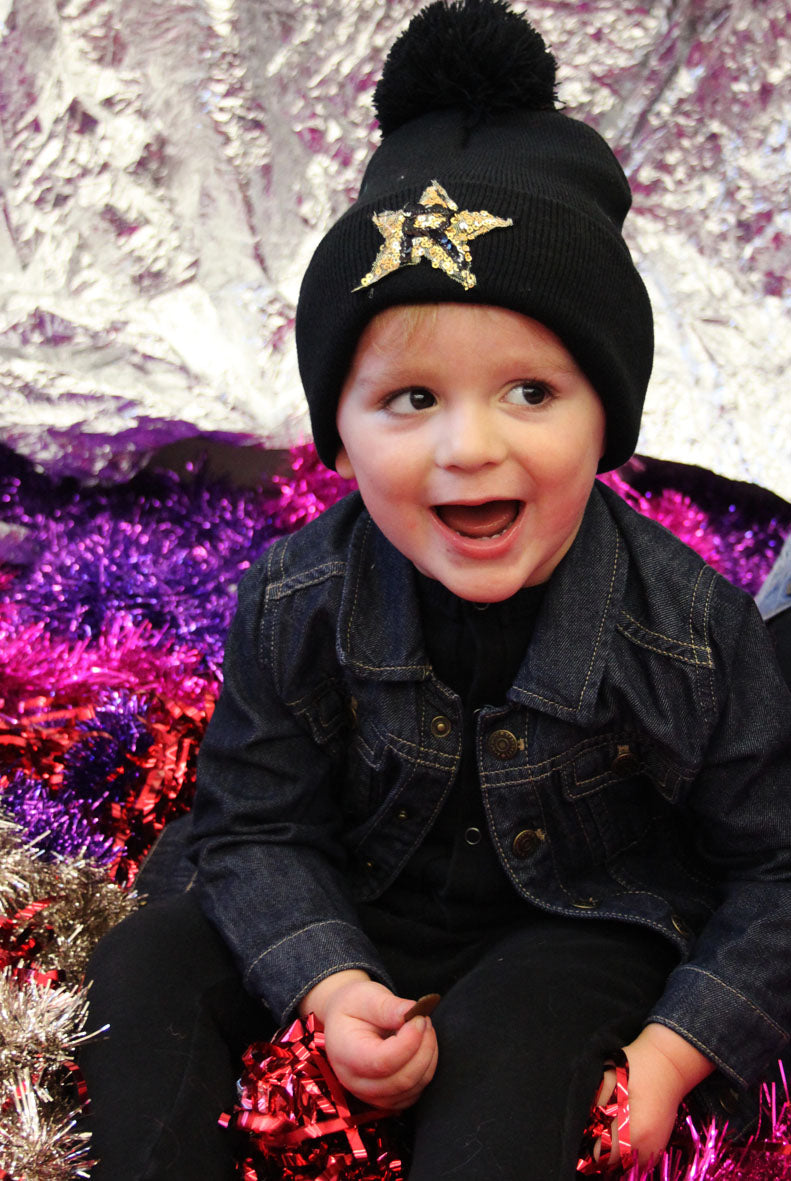 Kids Customised Sequin Star Beanie
