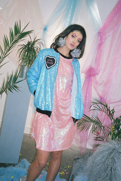 Girl Power Sequin Bomber