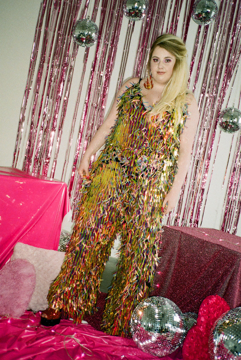 Hanging Fire Sequin Jumpsuit