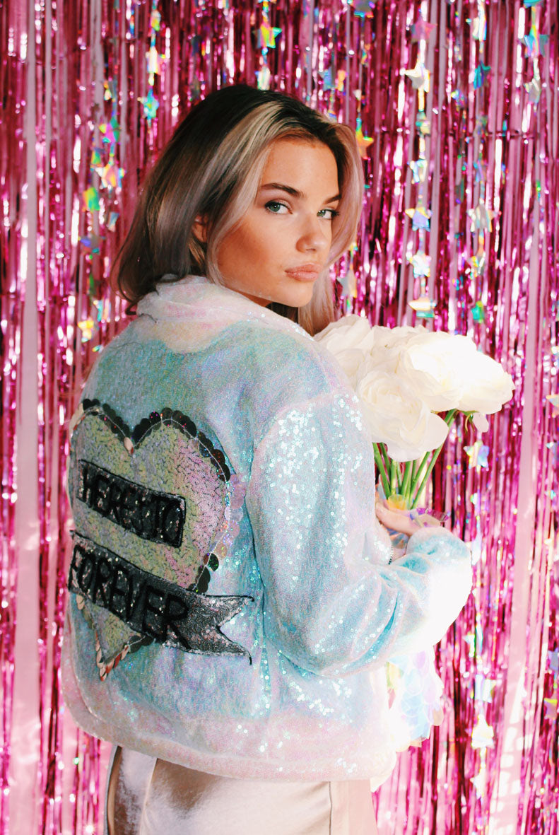 Here's To Forever Sequin Biker