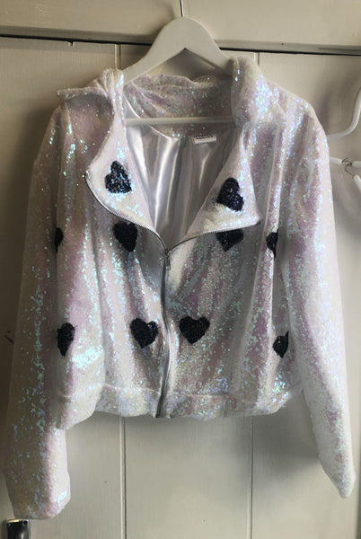 Sample Sale Monochrome Lovers Sequin Biker