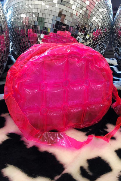 Neon Pink Inflatable Bubble Cross Body Bag