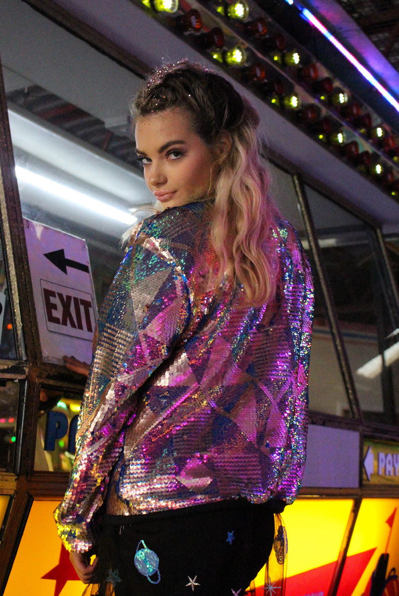 Nightfever Sequin Bomber