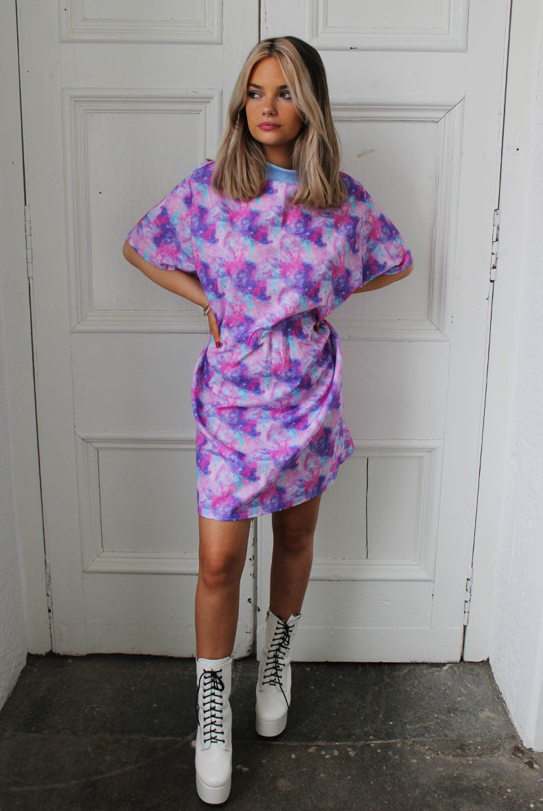 Pink Mystic Mini T-shirt Dress