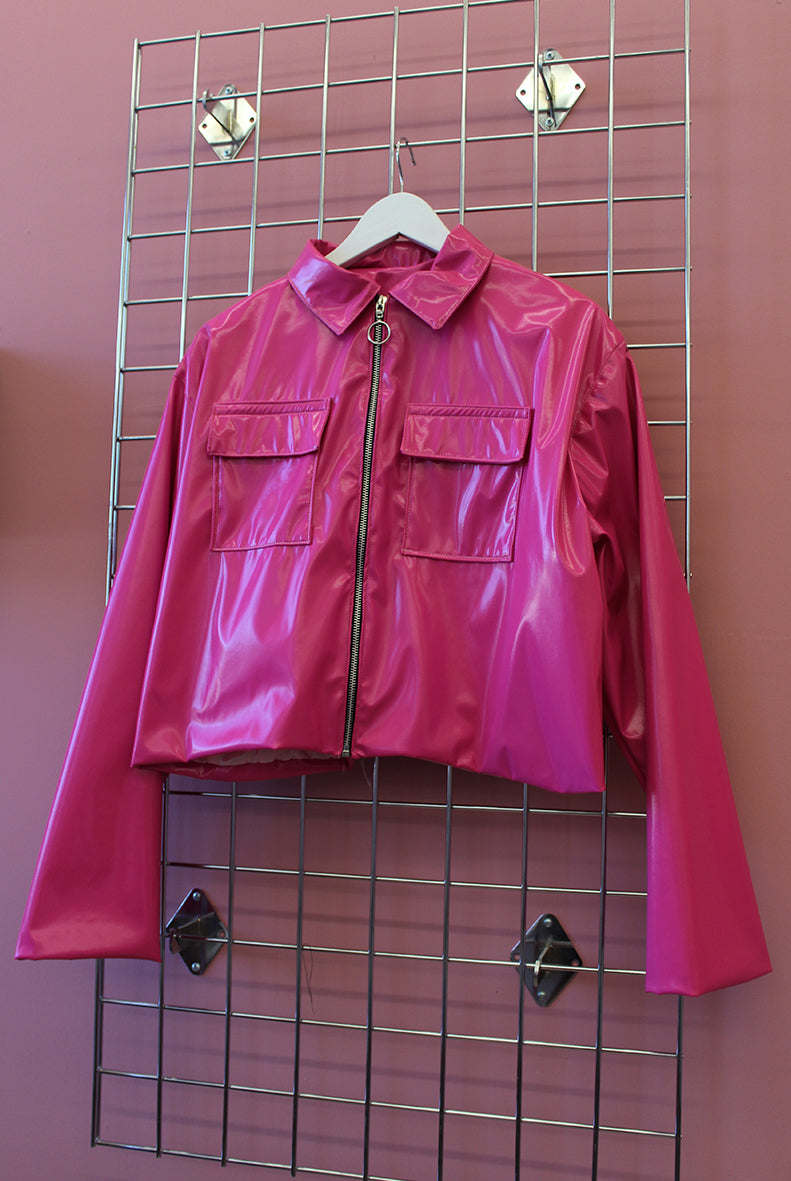 Sample Sale Pink PVC 90s Jacket