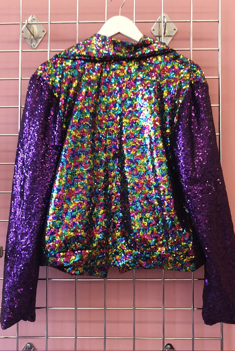 Sample Sale Rainbow Sequin Biker