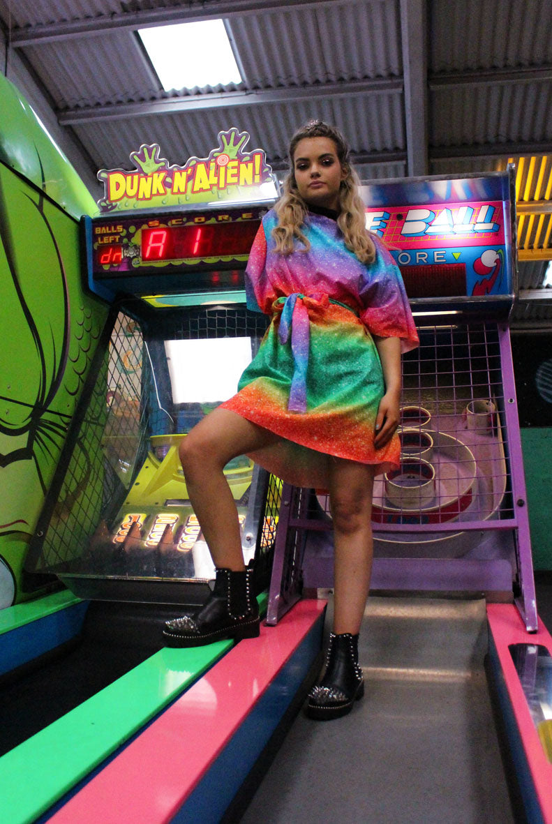 Rainbow Pleasureland T-shirt Dress