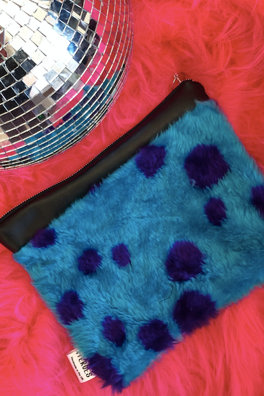Sully Faux Fur Leather Clutch Bag