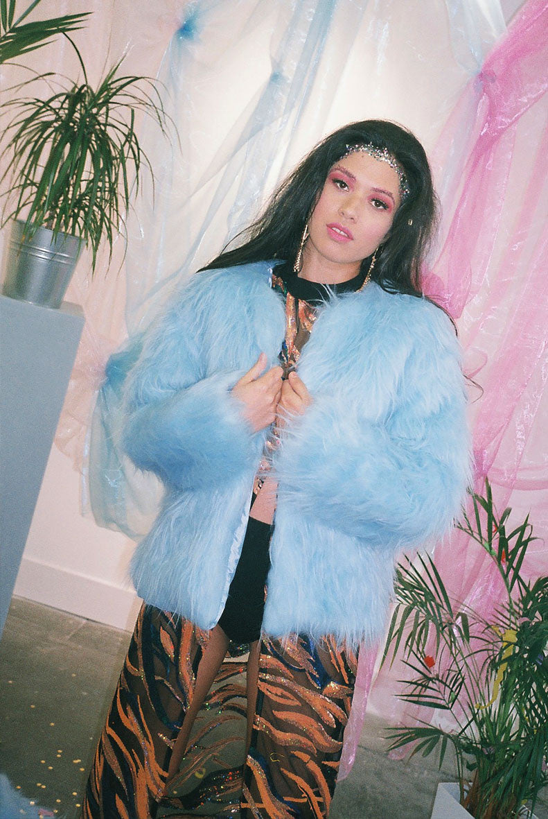 You've Got This Baby Blue Faux Fur