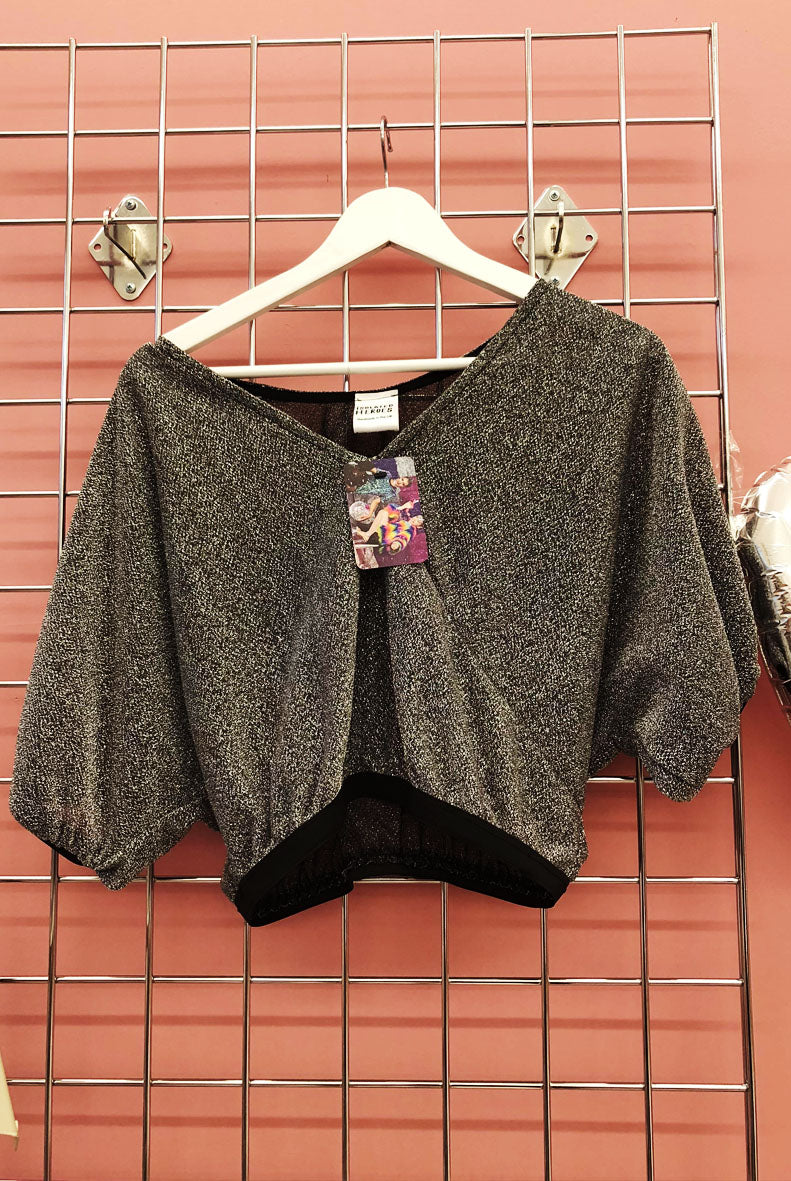 Sample Sale Shimmer gray Batwing Crop