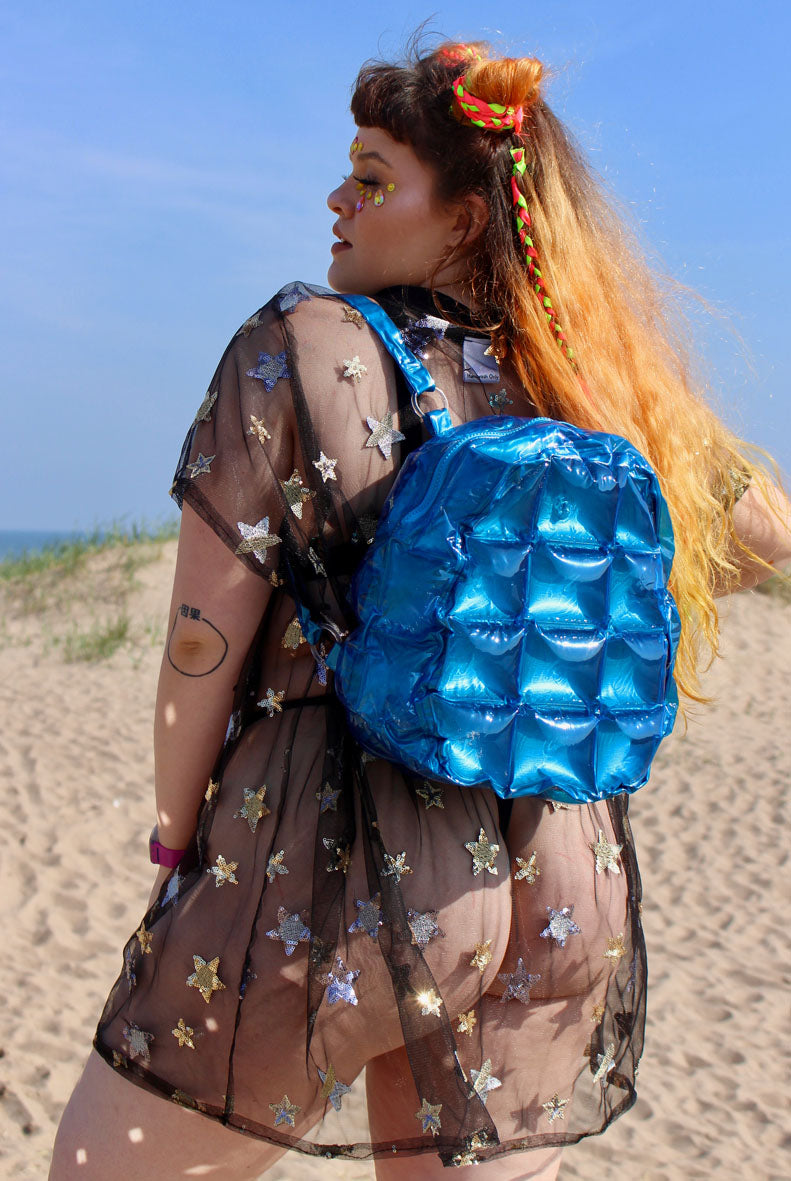 Blue Inflatable Bubble Bag backpack