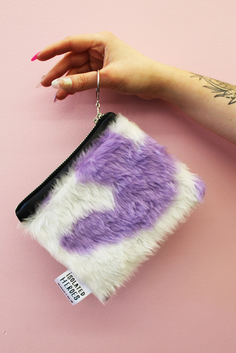 Cow print fluffy Mini Coin Purse