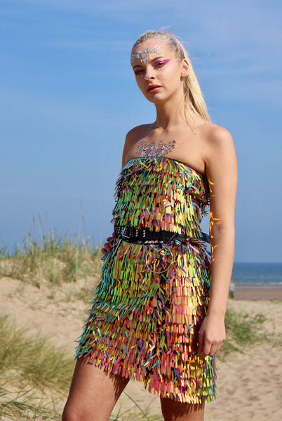 Fringed Fire Sequin Co-ord