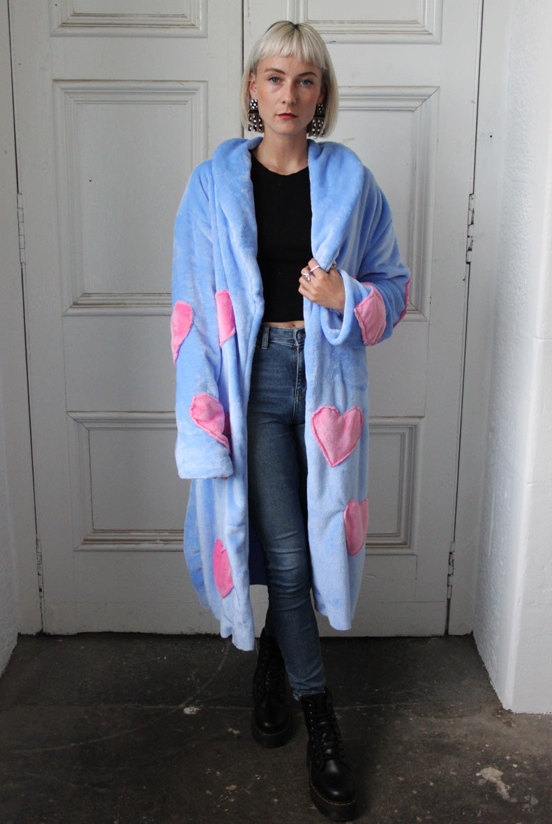 Baby Blue Pastel Dream Midi Faux Fur