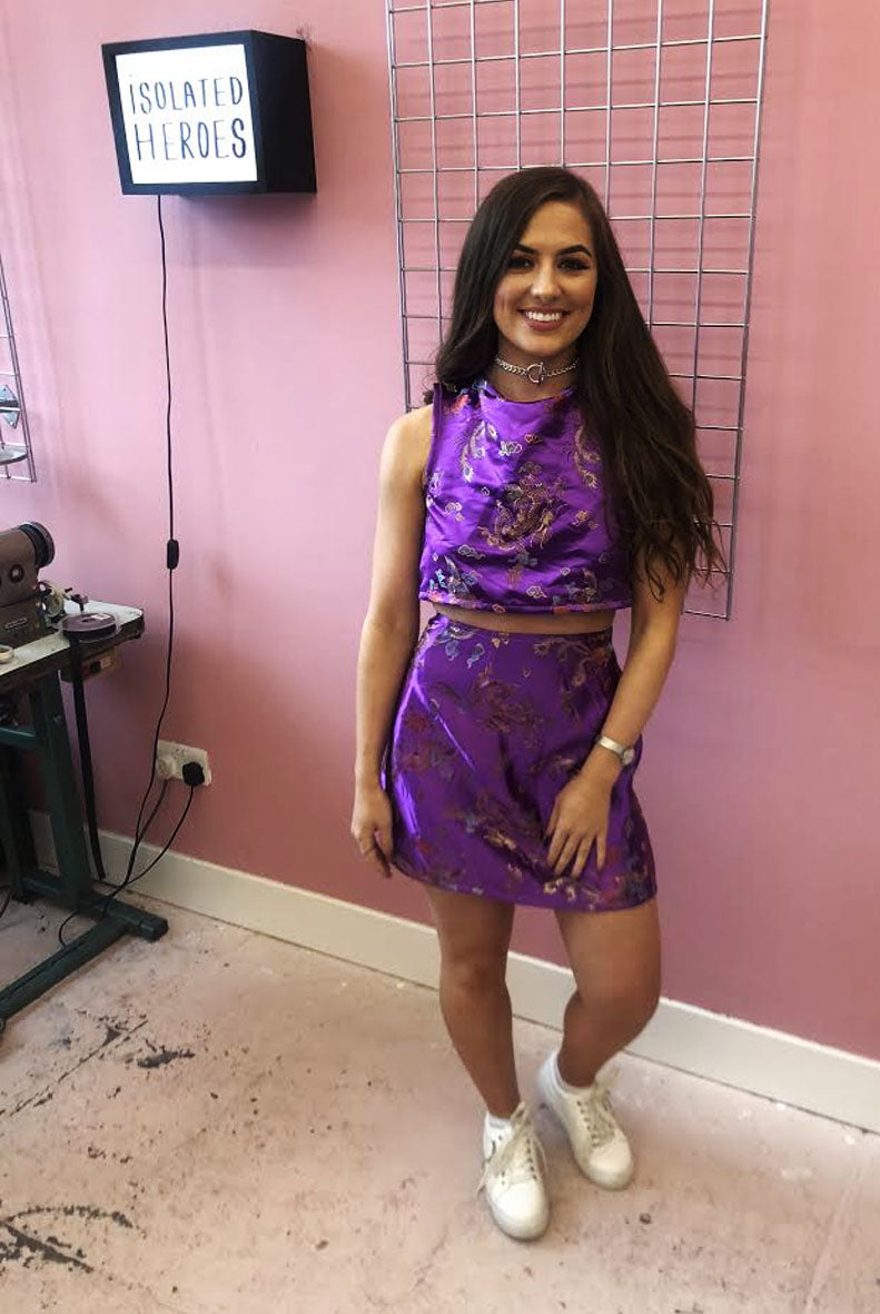 Purple Oriental Two Piece