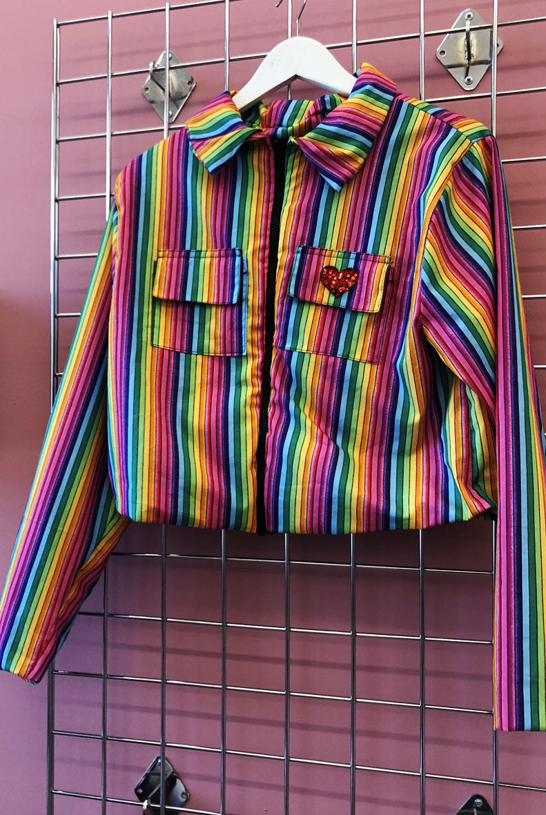Sample Sale Rainbow Stripe 90s Jacket