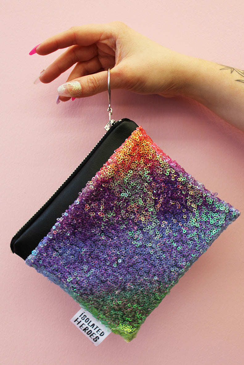 Pastel Rainbow Mini Sequin Coin Purse