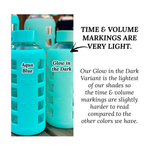 Load image into Gallery viewer, purifyou® Glass Water Bottle - Glow in the Dark