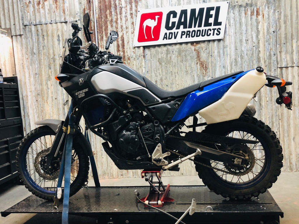 Camel ADV Fuel Tank Auxiliary Tenere 700 T7 with OEM tail section