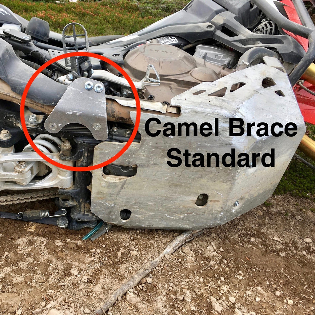 Camel Brace prevents broken footpeg mount on Honda Africa Twin CRF1000L