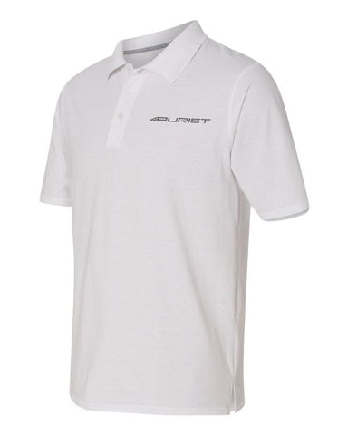 Purist Group Embroidered Polo Shirt - White