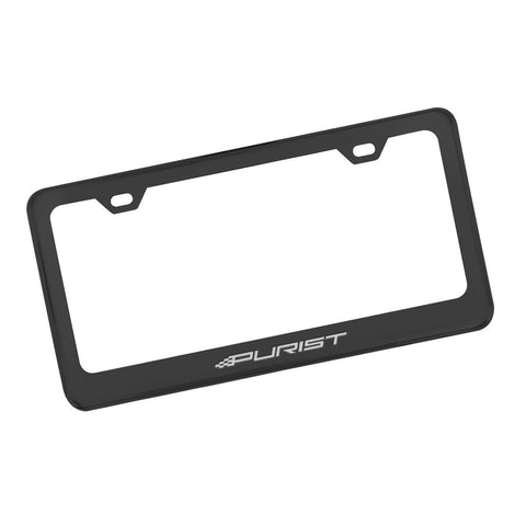 Purist License Plate - Matte Black