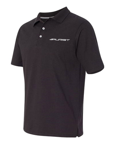 Purist Group Embroidered Polo Shirt - Black