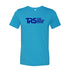 Men's Aqua/Electric Blue TRS Logo T-Shirt