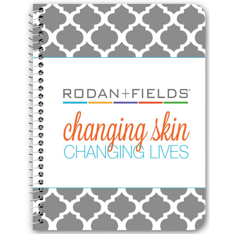 Rodan + Fields changing skin changing lives Notebook - digital detours