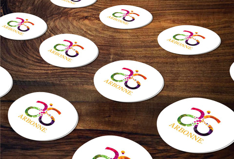 Arbonne Round Stickers/Envelope Seals - Independent Consultant Business Branding & Marketing - Arbonne Colorful Sticker - digital detours