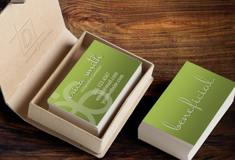 Arbonne 2-Sided Business Card Template - Independent Consultant Business Branding & Marketing - Green Beneficial Business Card - digitaldetours