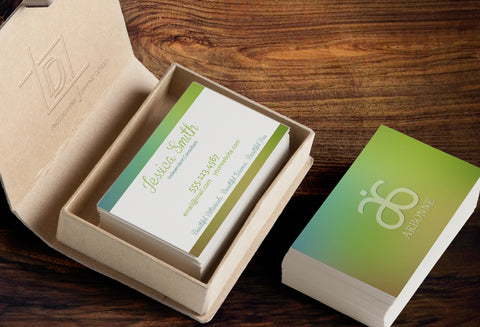 Arbonne 2-Sided Business Card Template - Independent Consultant Business Branding & Marketing - Arbonne Green Blurred Business card - digitaldetours